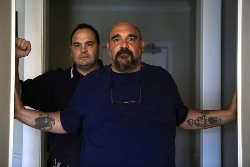 Michael Carcerano (right) and Stephen Carcerano found the letters from lawyers for the Tufts insurer baffling.