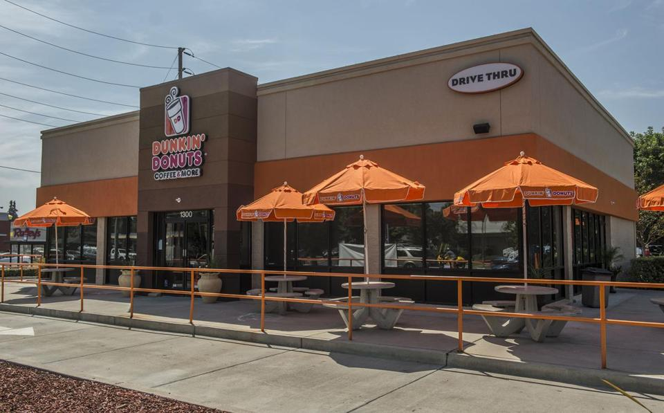 Dunkin' Donuts launches its campaign in Modesto, Calif.