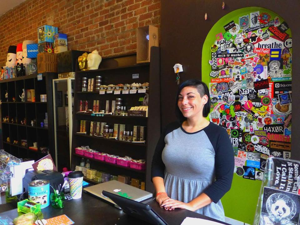 Jenny Zuko (above) moved to Beacon, N.Y., five years ago to open her shop, Dream in Plastic.