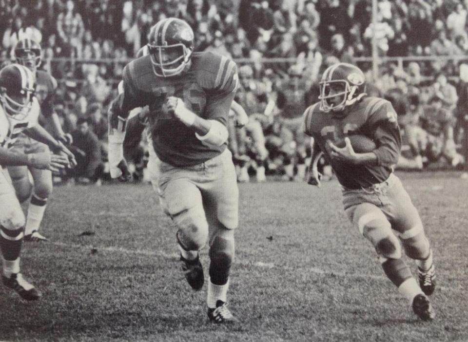 Arthur T. Demoulas was a running back on the Andover High football team.