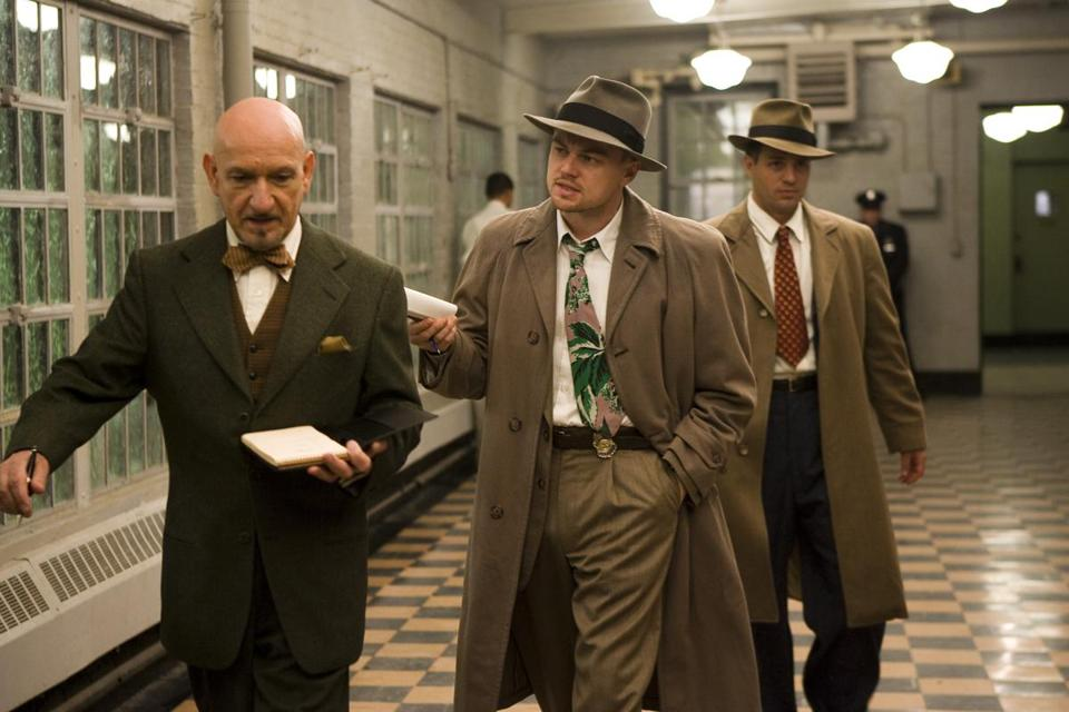 "From left, Ben Kingsley, Leonardo DiCaprio, and Mark Ruffalo in the movie ""Shutter Island."""