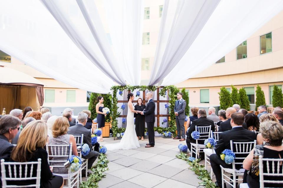 The outdoor ceremony.