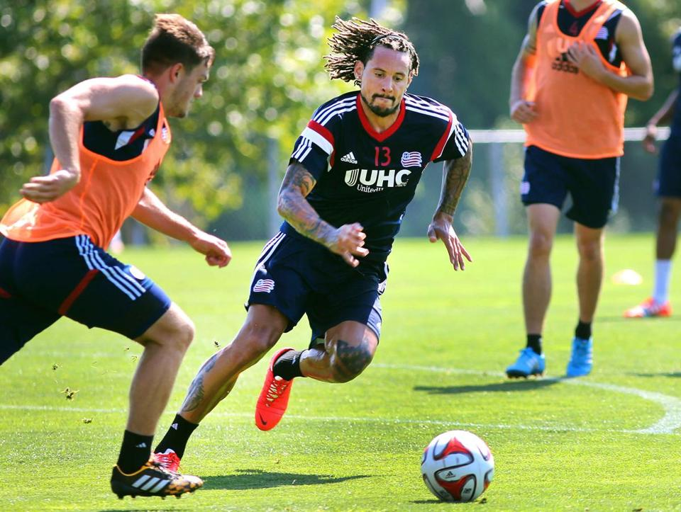 Jermaine Jones practiced with the Revolution for the first time on Tuesday.