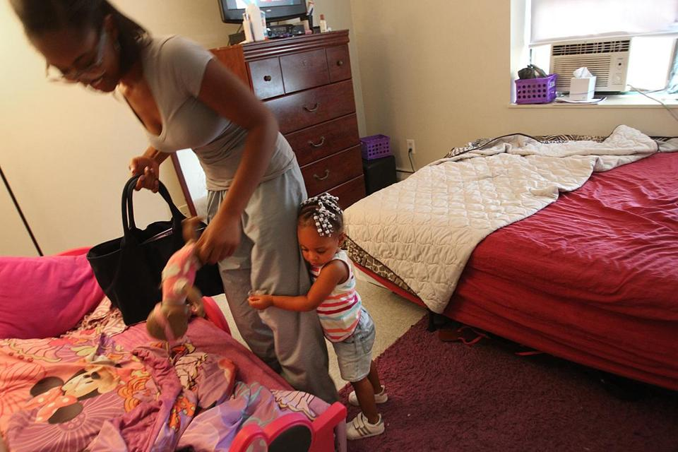 A Boston public health nurse visited Stephanie Lawrence twice a month when Lawrence was pregnant, helping her get food stamps, health insurance, and a two-bedroom apartment for her and daughter, Destiny.