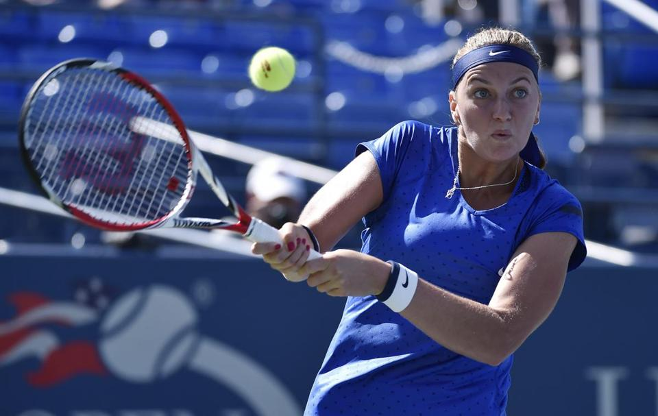 Petra Kvitova committed 34 unforced errors against the fast-moving Aleksandra Krunic.