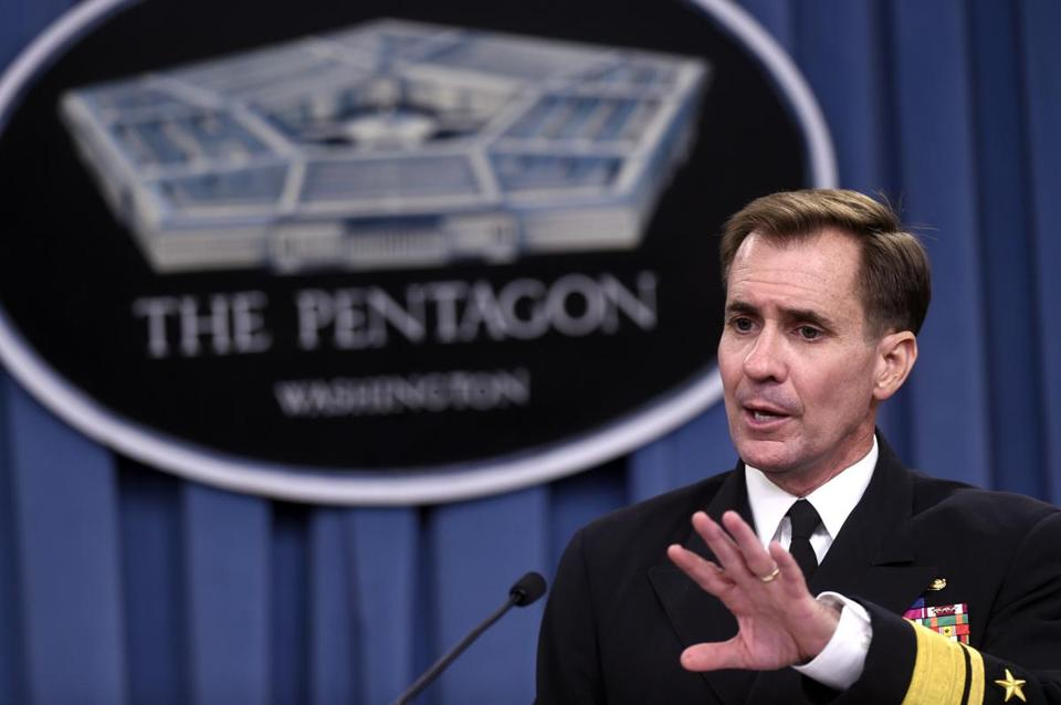 Pentagon press secretary John Kirby said the attack was carried out Saturday by US warplanes.