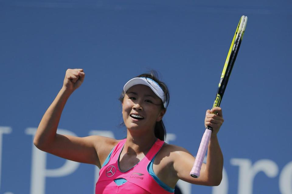 In her 37th Grand Slam event, Peng Shuai made her first semifinal. AFP PHOTO/Kena BetancurKENA BETANCUR