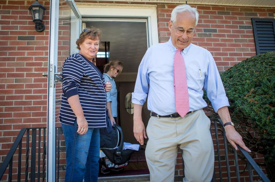 Donald Berwick spoke to Ann Moran-Darcy at her residence in West Roxbury Monday.