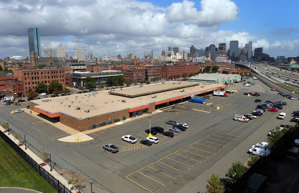 The Boston Flower Exchange Building And Parking Lot Takes Up A Commanding Presence Of Land In