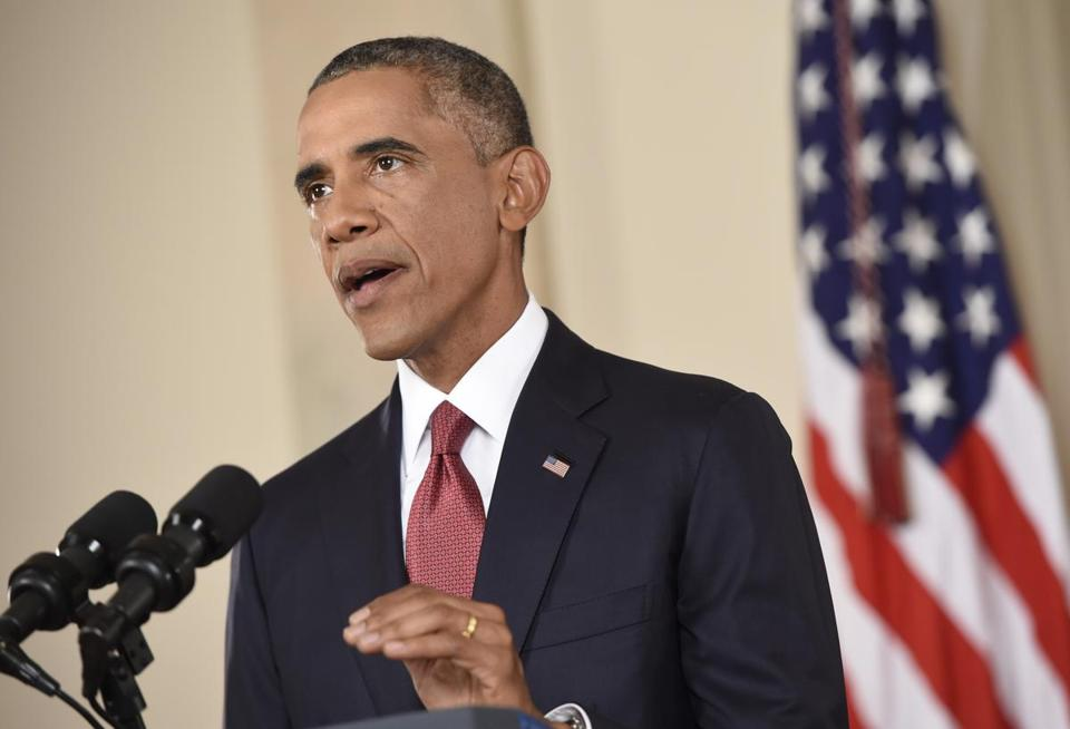 President Obama delivers his address on ISIS Wednesday.