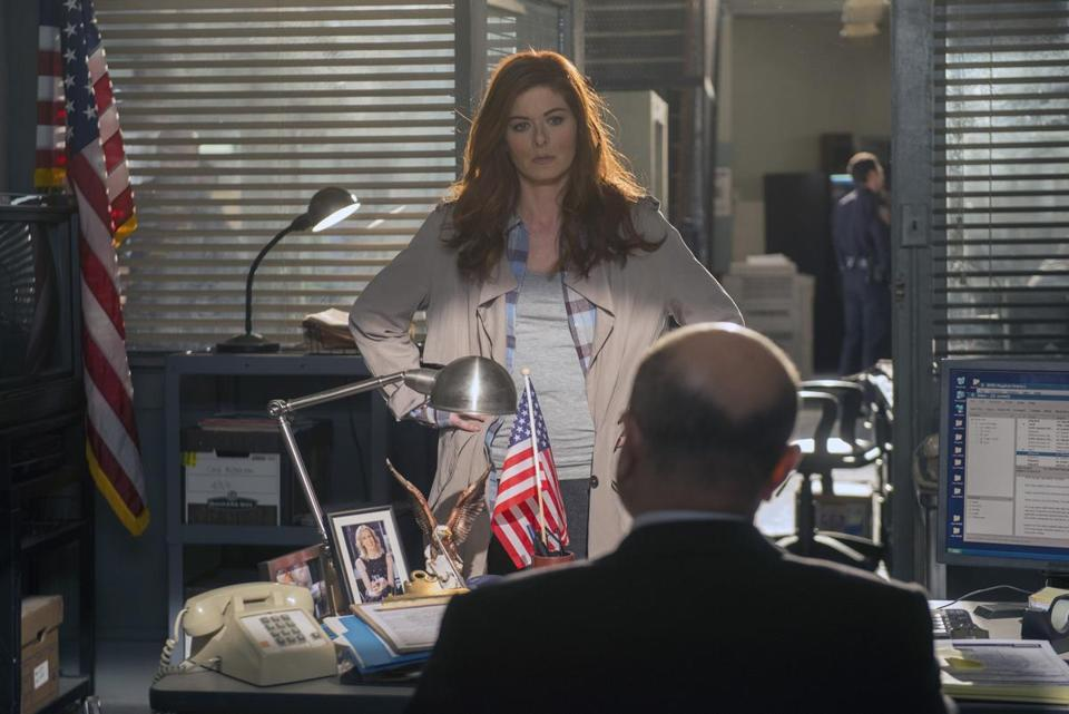 "Debra Messing as an NYPD homicide detective in ""The Mysteries of Laura."""