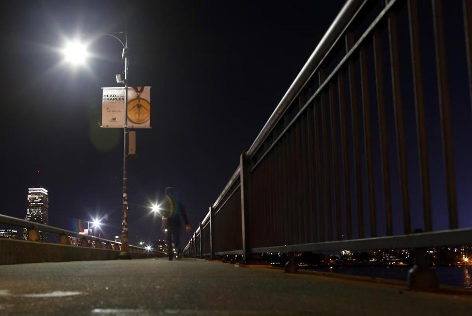 Right now, pedestrians crossing the bridge at night don't have much light to guide them.