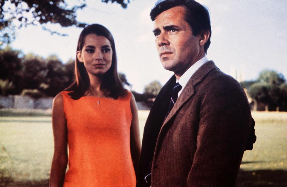 Jacqueline Sassard and Dirk Bogarde in Joseph Losey's 1967 film, written by Harold Pinter.