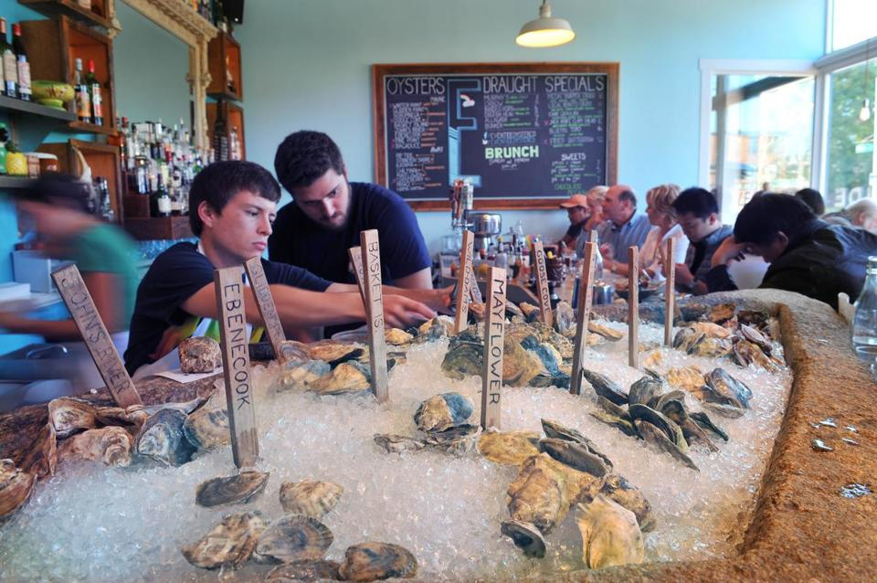 Oysters are king at Eventide Oyster Co. in Portland, ME.
