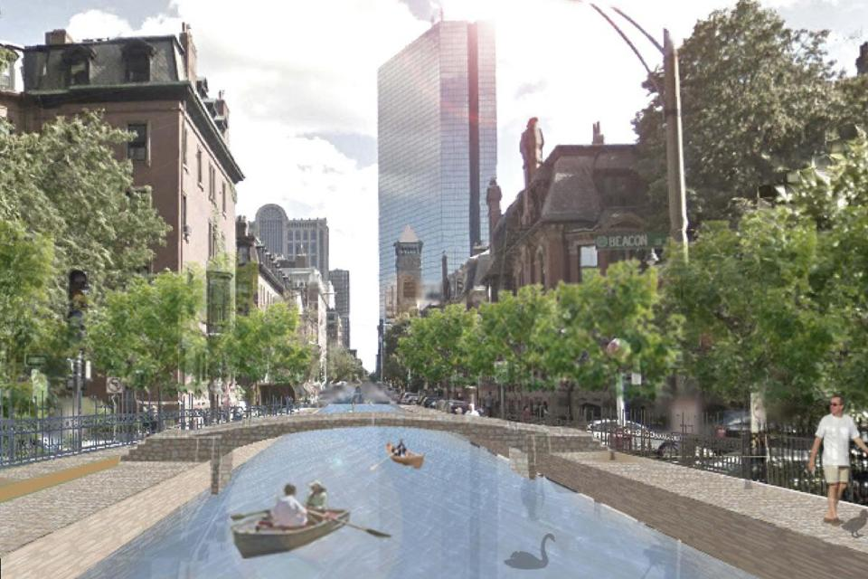 Sea rise could bring a Clarendon Canal and other flood controls.