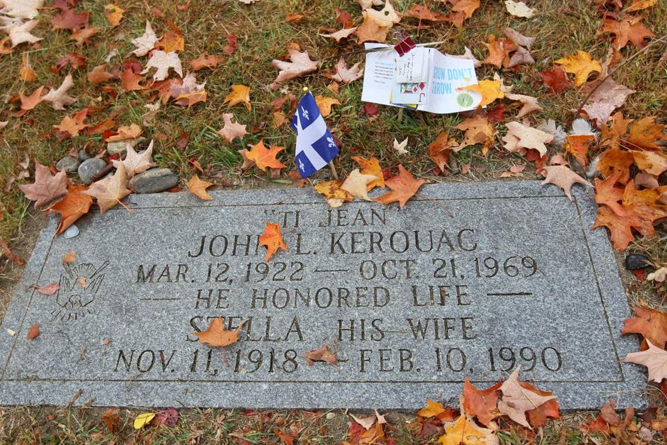Jack Kerouac's grave was long marked by a modest plaque.