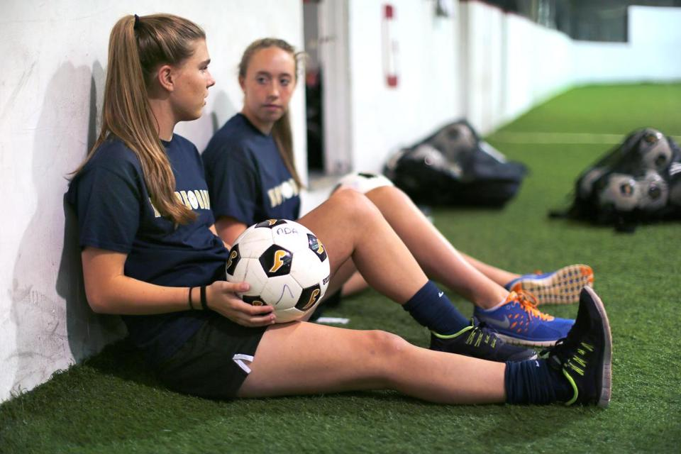 Notre Dame of Hingham soccer players Kristen McCrea and Lexi Noyes both suffered torn ACLs and had surgery, causing them to miss this season.