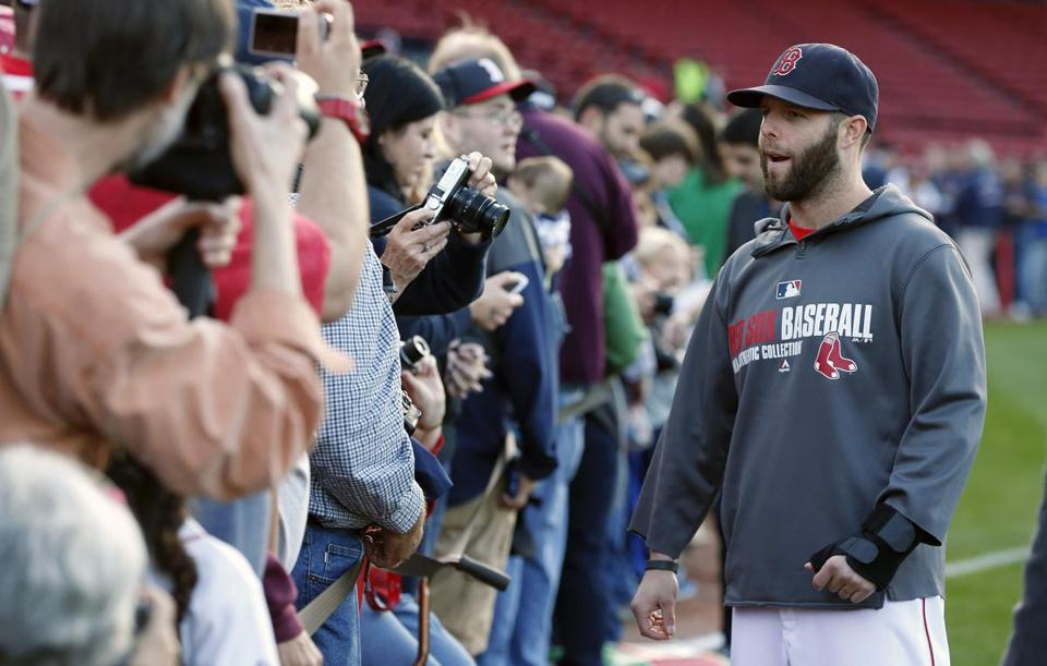 Dustin Pedroia batted .278 with seven home runs in 135 games in 2014 before missing the end of the season with a thumb injury.
