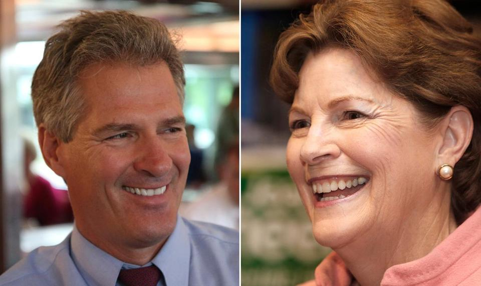 Scott Brown (left) and Jeanne Shaheen.