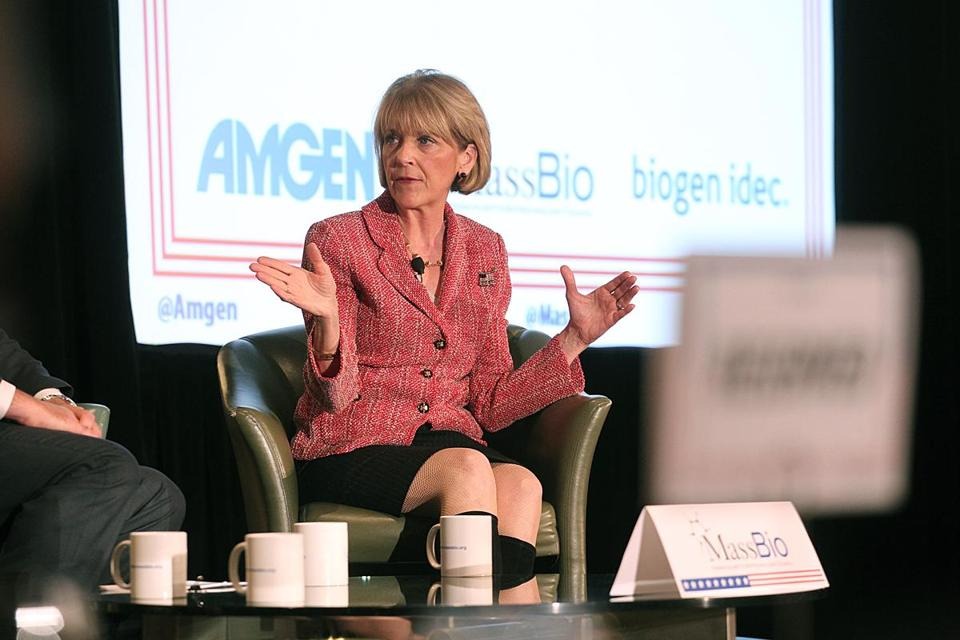 Appearing at a forum earlier this month, Martha Coakley wasn't shy about using her hands while talking.