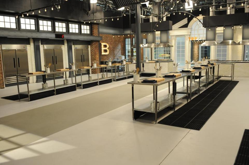 "A view of the ""Top Chef"" kitchen."