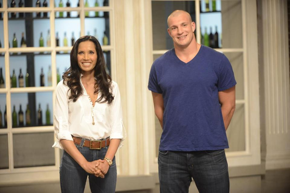 Host Padma Lakshmi (with guest Rob Gronkowski) appeared at many locations during filming this season.