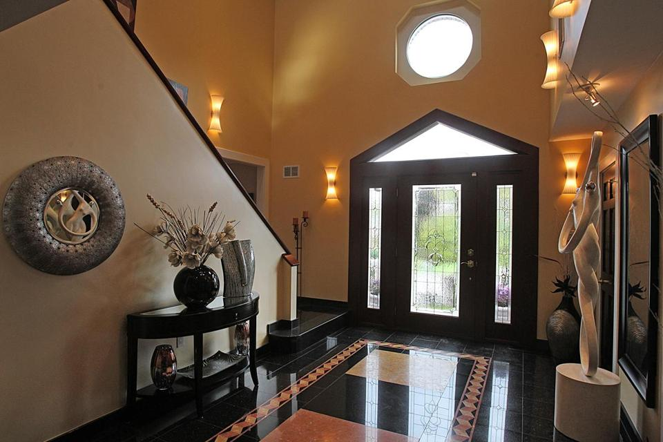 Contemporary Foyer Jr : Woburn contemporary with movie theater sunroom and pool
