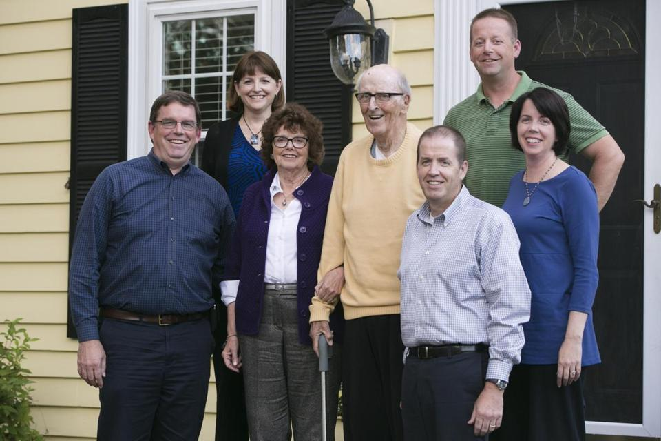 Brian Gallivan's family members (from left) Paul, Maryann, Maureen, Charlie, John, Jimmy, and Tricia.