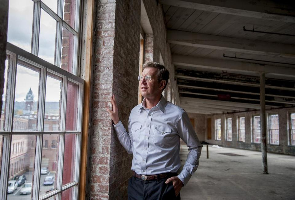 Museum director Joseph Thompson at Mass MoCA's Building 6 in 2014.