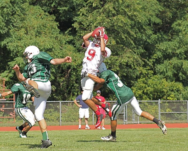 Andrew Hanwell is North Attleboro's top cover corner and receiver.
