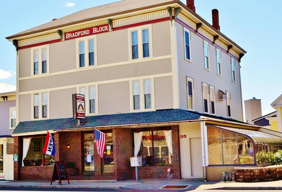 The Bradford Block building in Springvale, Maine dates back to 1890. It's now home to Bradford Block Bistro. Brian Mucci and his wife, Amanda, opened the restaurant in November 2013.
