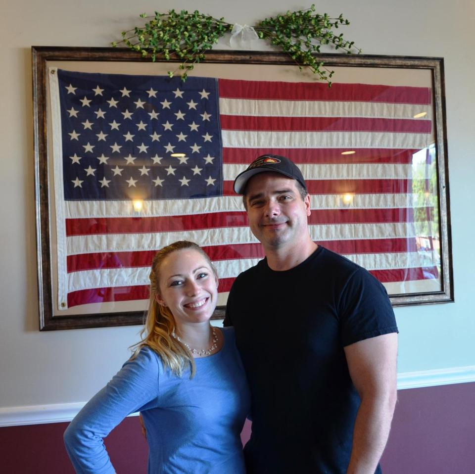 Brian Mucci and his wife, Amanda.