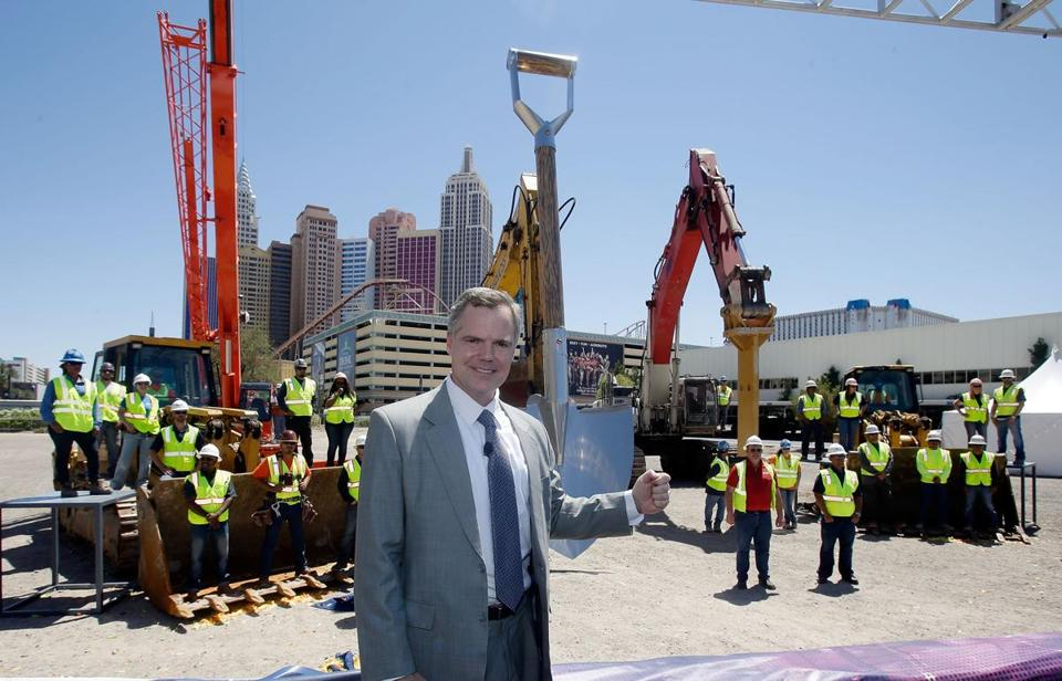 MGM Resorts International Chairman and CEO Jim Murren posed in May with a giant shovel and construction workers at a groundbreaking in Las Vegas.