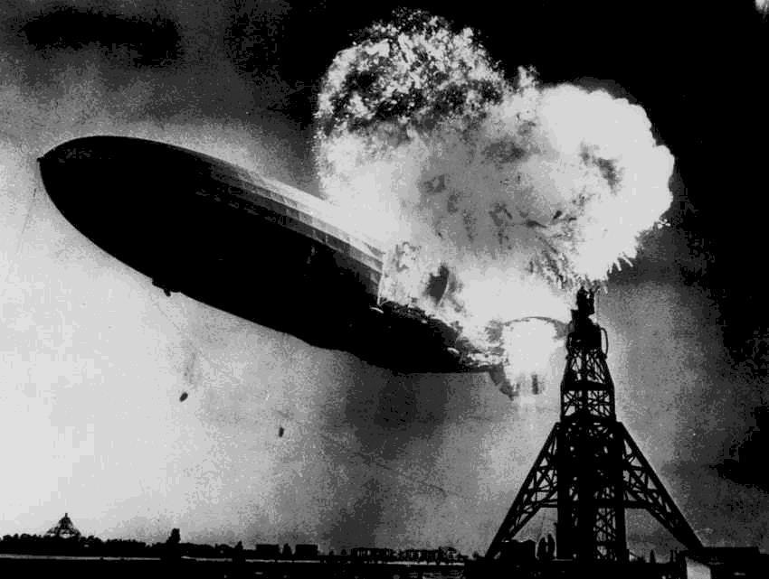 The Hindenburg explosion, 1937