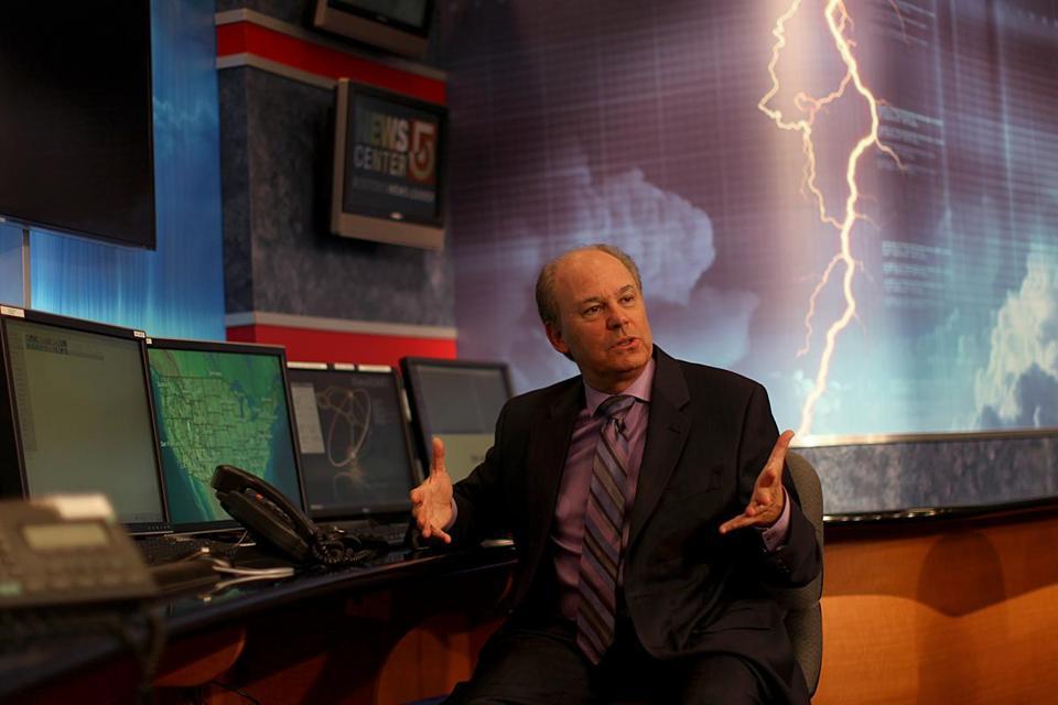 tv weatherman harvey leonard tracks his career the boston globe