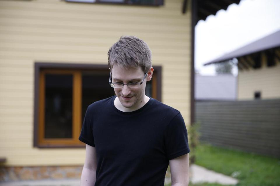 "Edward Snowden in ""Citzenfour,"" a documentary by Laura Poitras about the National Security Agency systems administrator-turned-leaker. At right: the NSA, as seen in the film."
