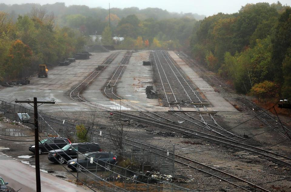 Yard 5 in Hyde Park is an old MBTA railroad site where new industrial development is planned for next year.