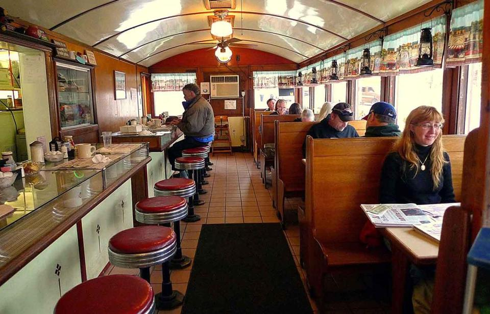 The Littleton Diner is a beautifully restored 1940 Sterling diner. (David Lyon for The Boston Globe)
