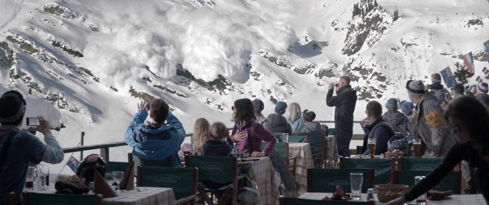 "Writer-director Ruben Östlund builds ""Force Majeure"" around a near catastrophe at a ski lodge."