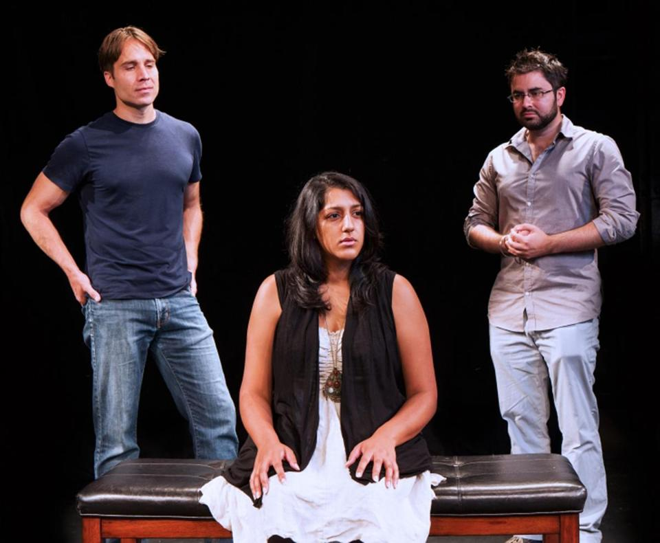 "From left: Casey Preston, Payal Sharma, and Michael Dwan Singh star in ""Shiv,"" part of Company One's ""The Displaced Hindu Gods Trilogy."""