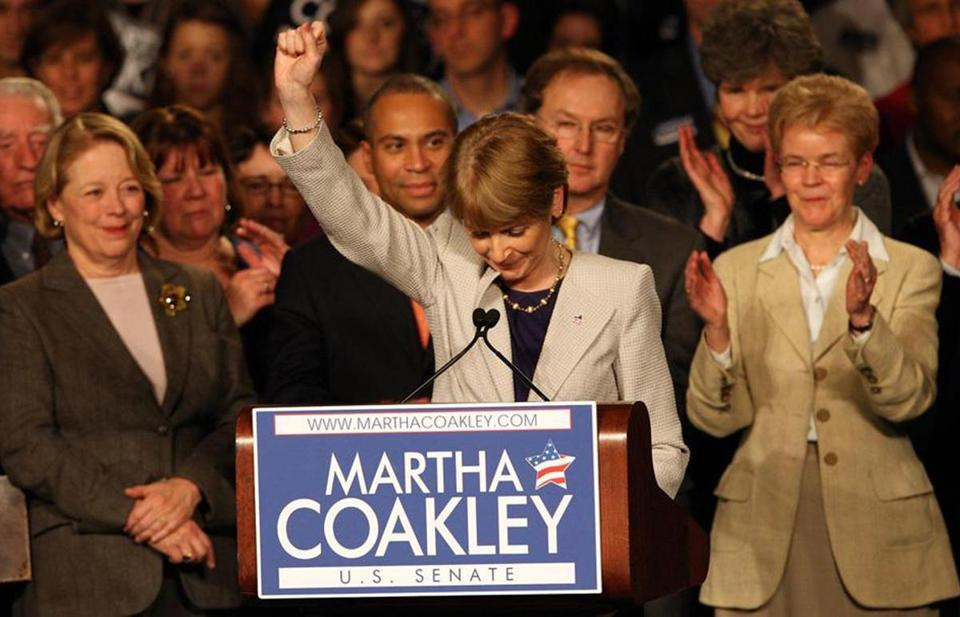 Martha Coakley delivered the concession speech to her Senate run in January 2010.