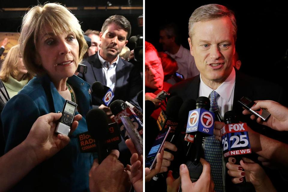 Again and again, Martha Coakley, through a somewhat forced smile, tried to get Charlie Baker's goat.
