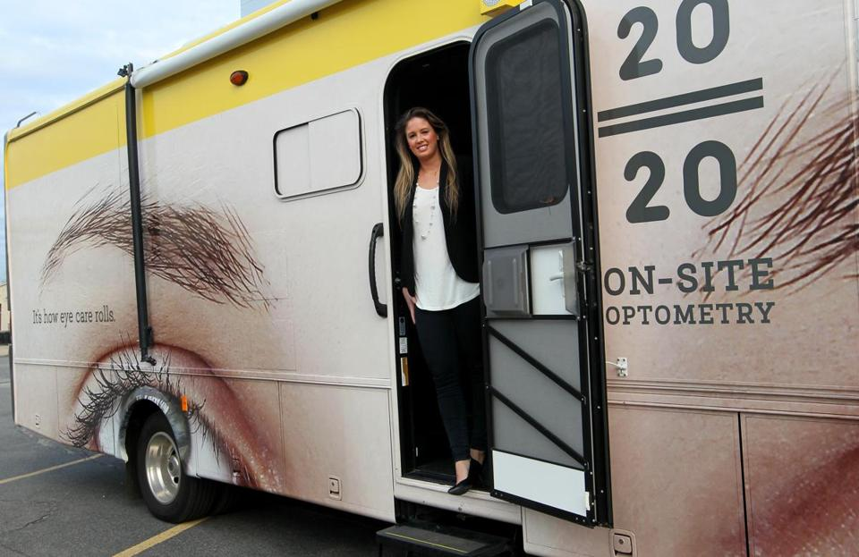 Alexa Baggio is director of business operations and development for Project 2020, an innovative mobile eye-care service.