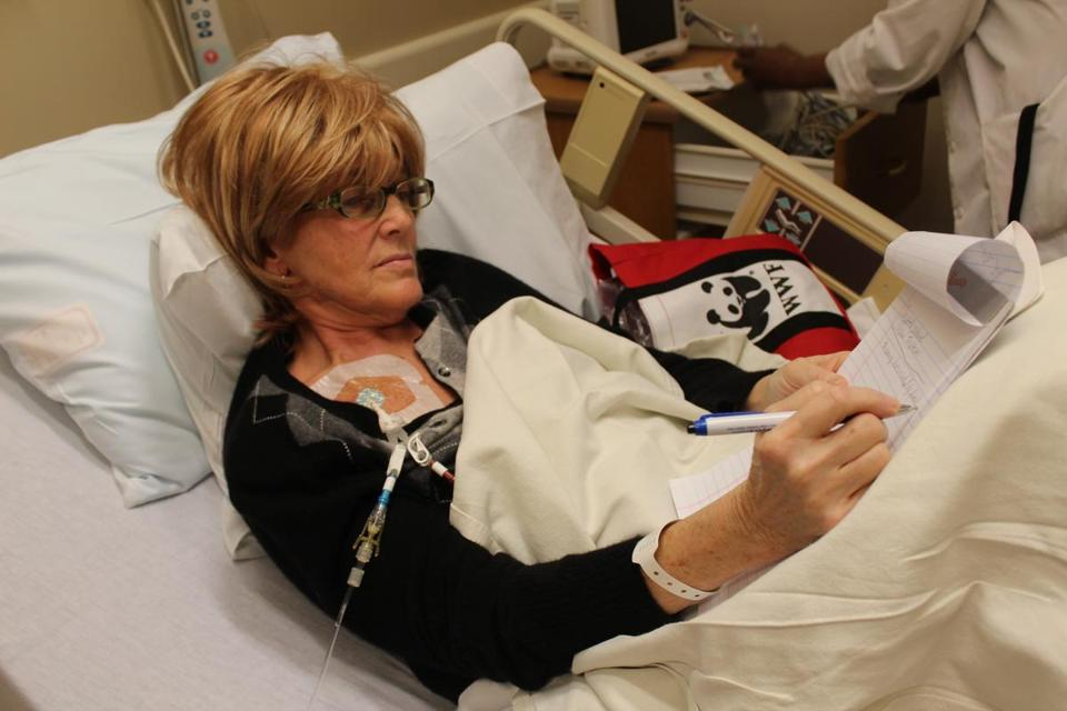 "Diane Sullivan participated in filming ""A Journey Through a Stem Cell Transplant."""