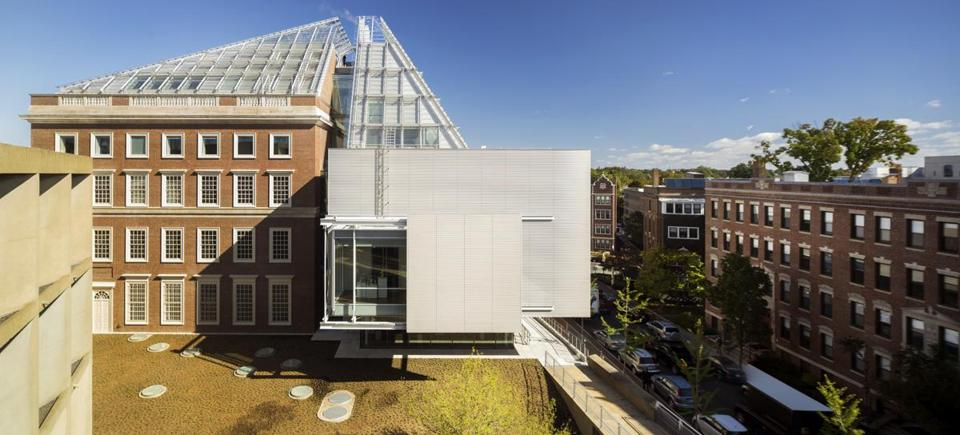Harvard Art Museums [jpg file: HAM exterior_09.19.14_Photo Nic Lehoux_605.001] The Harvard Art Museums, showing the new addition with the south Winter Garden gallery (September 19, 2014). Photo: © Nic Lehoux. -- 07Harvard