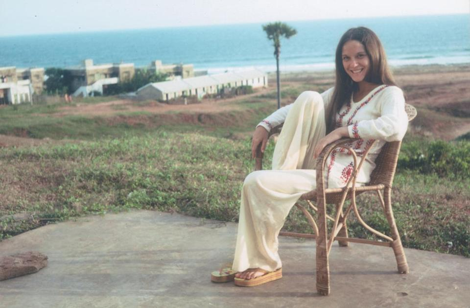 Danielle Guichard-Ashrook in the mid-1970s along the Bay of Bengal, just outside Visakhapatnam, India, where she and her husband, Tom Ashbrook, were living when the married for the first of three time.