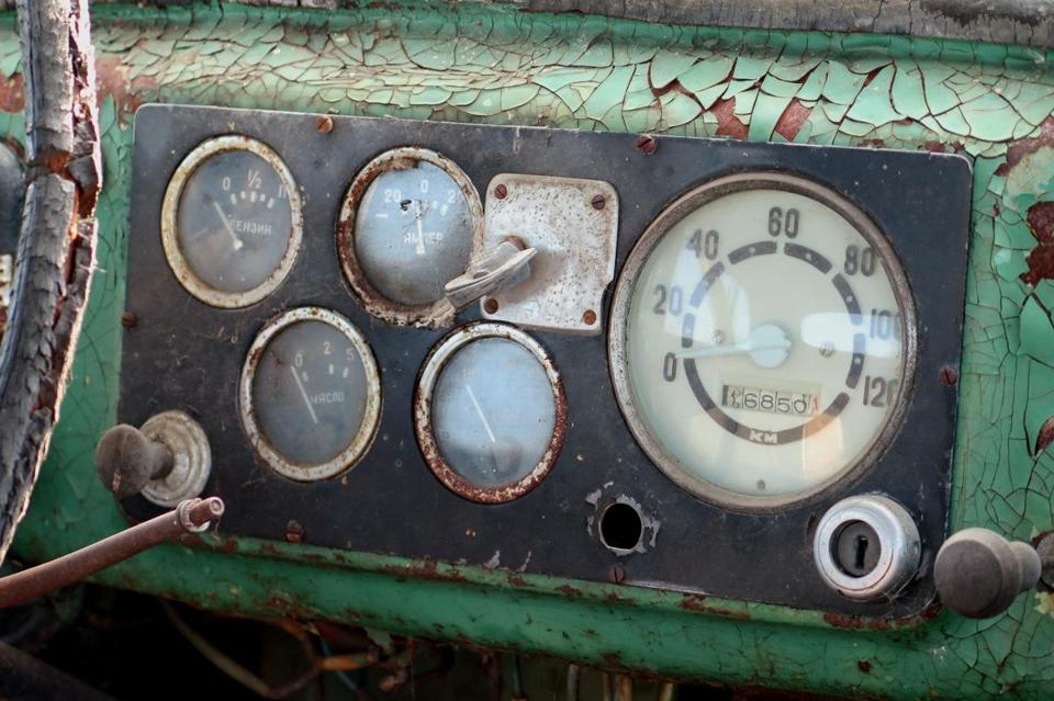 A dashboard exposed to the elements.