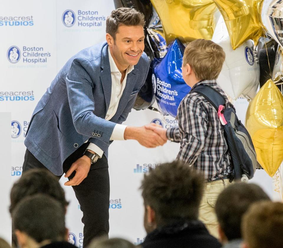 Ryan Seacrest Opens New Studio At Boston Children's