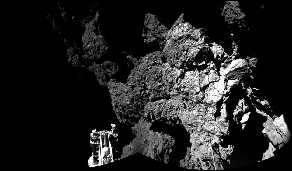 The comet landing as a prelude to asteroid mining - The ...