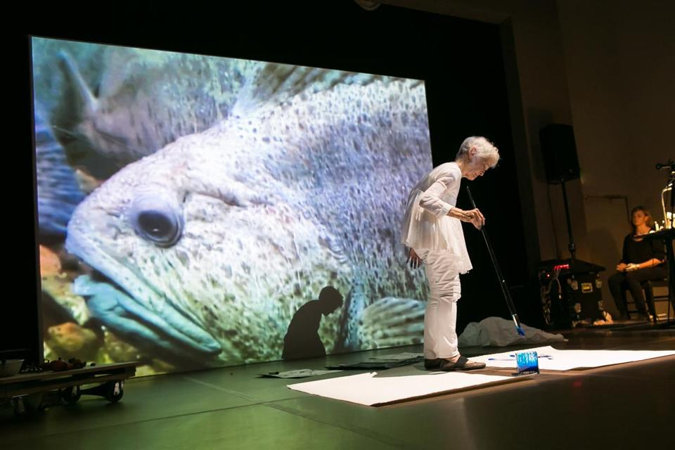 "Joan Jonas performed ""Reanimation"" at the MFA."